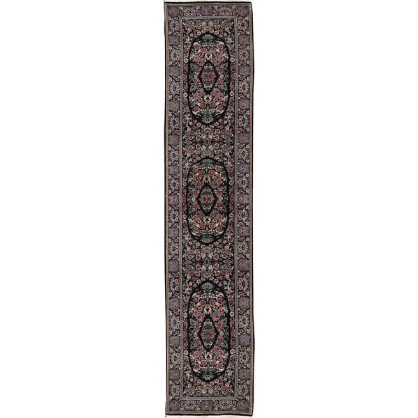 One-of-a-Kind Prince Handwoven Runner 2'6 x 12' Wool Black Area Rug