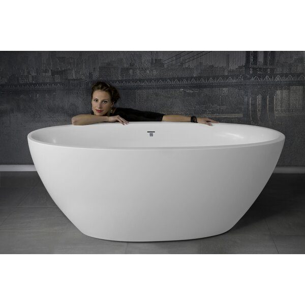 Sensuality 66.5 x 33 Freestanding Soaking Bathtub by Aquatica