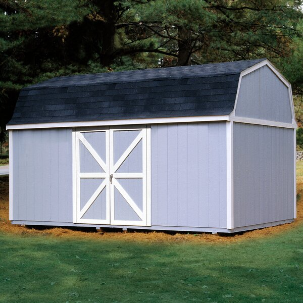 Berkley 10 ft. 10 in. W x 18 ft. 2 in. D Wood Storage Shed by Handy Home