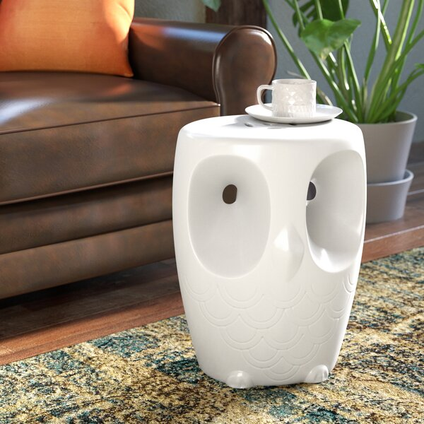 Noreen Owl Garden Stool by Bloomsbury Market