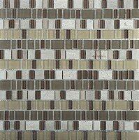 Unique 12 x 12 Glass and Stone Blend Mosaic Tile in Lyric by Emser Tile