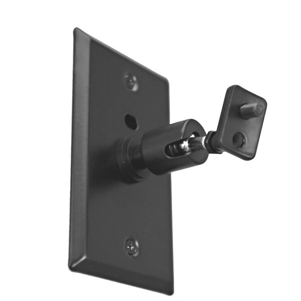 Universal Speaker Wall/Ceiling Mount with Electrical Box Installation Adapter Plate in Black by Pinpoint Mounts