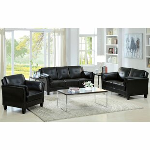 Newport 3 Piece Faux leather Living Room Set by A&J Homes Studio