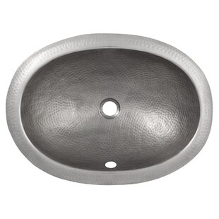 Great Price Metal Oval Drop-In Bathroom Sink with Overflow By The Copper Factory