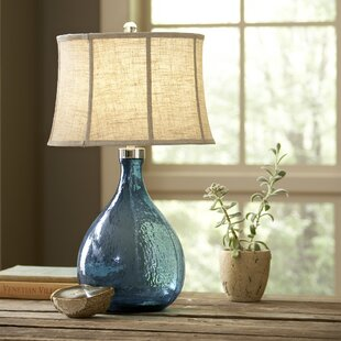 Find Sapphire Glass Table Lamp By Birch Lane™