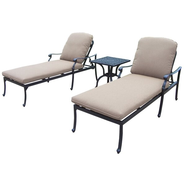 Bosch Reclining Chaise Lounge Set with Cushions and Table by Darby Home Co