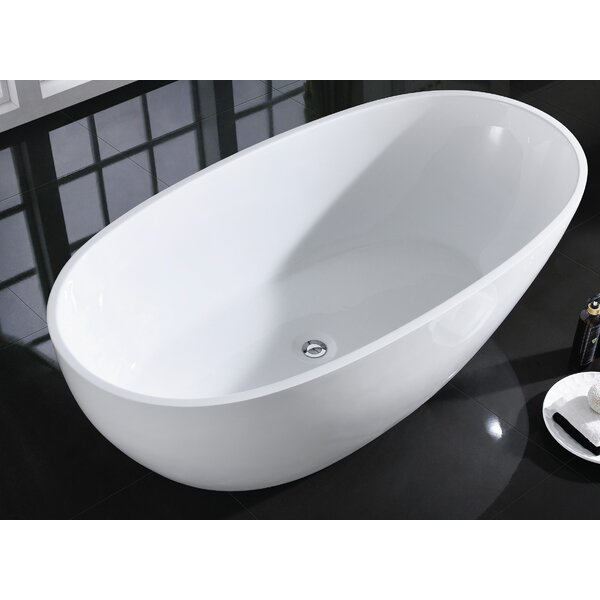 Sarah 60 x 33.5 Freestanding Bathtub by Eviva