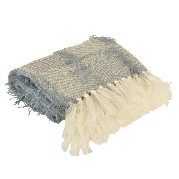 Antonio Crazy Tassel Knit Throw by Highland Dunes
