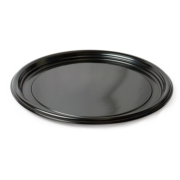 Platter Pleasers Round Vintage Style Thermoform Serving Tray (Set of 25) by Fineline Settings, Inc