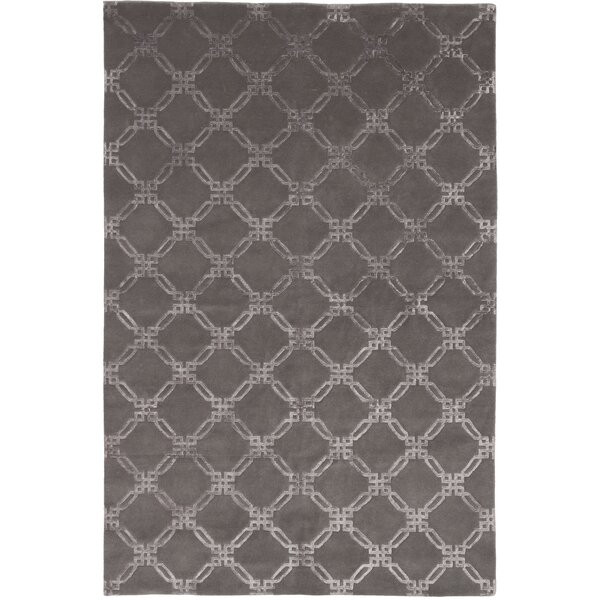 Broadway Hand-Knotted Gray Area Rug by Shalom Brothers