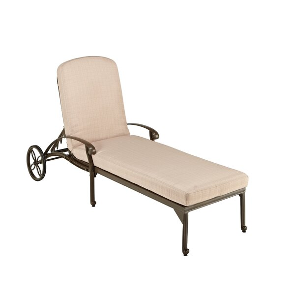 Arrey Reclining Chaise Lounge With Cushion By One Allium Way