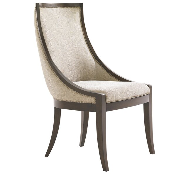 Tower Place Talbott Host Upholstered Dining Chair In Cobblestone By Lexington