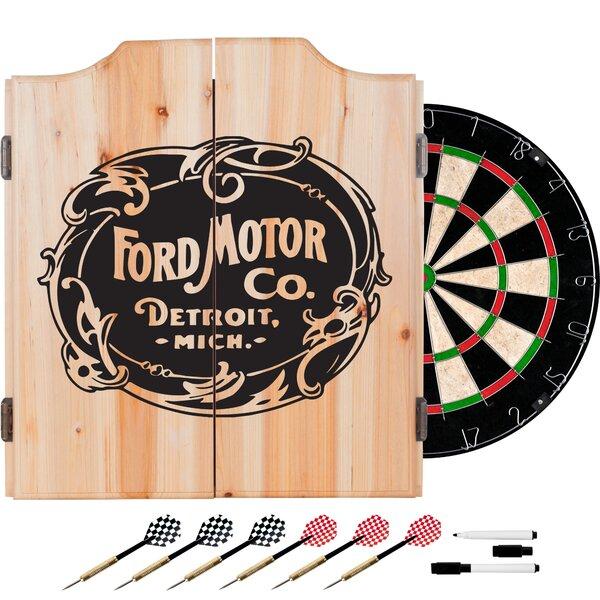 Vintage Ford Motor Co. Dart Cabinet Set by Trademark Games