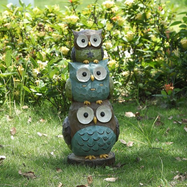 Stacking Owls Statue by Hi-Line Gift Ltd.