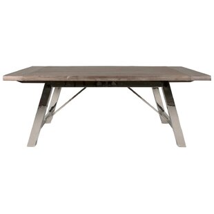 Parfondeval Extendable Metal Base Dining Table