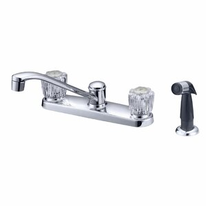 LessCare Double Handle Kitchen Faucet with Water Sprayer