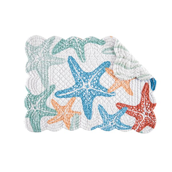 Kalani Quilted Placemat (Set of 6) by C&F Home