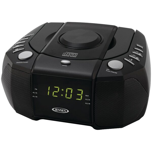 AM / FM Dual Alarm Clock Stereo Radio by Jensen