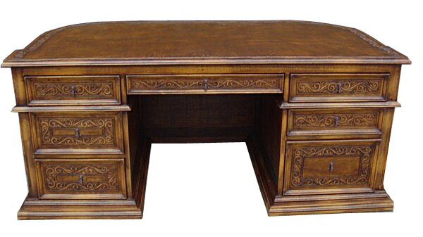 Lukasz Solid Wood Executive Desk