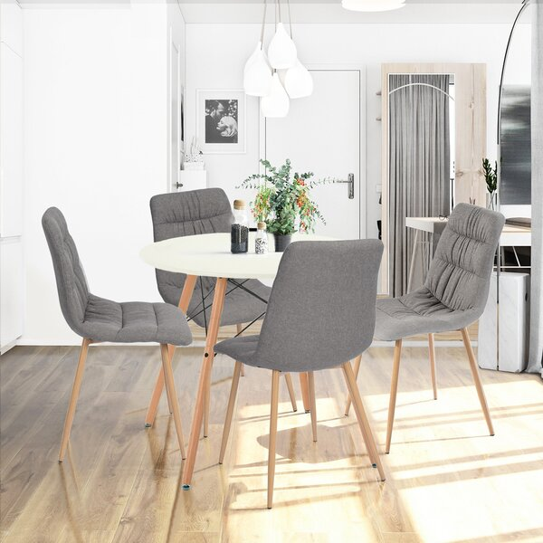Quattlebaum Upholstered Dining Chair (Set of 4) by Ebern Designs