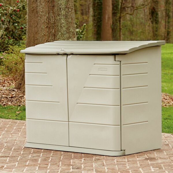 4 ft. 3 in. W x 2 ft. D Plastic Horizontal Garbage Shed by Rubbermaid