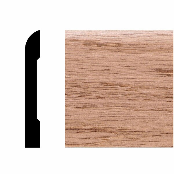 3/8 in. x 2-3/4 in. x 8 ft. Oak Modern Casing/Base Moulding by Manor House