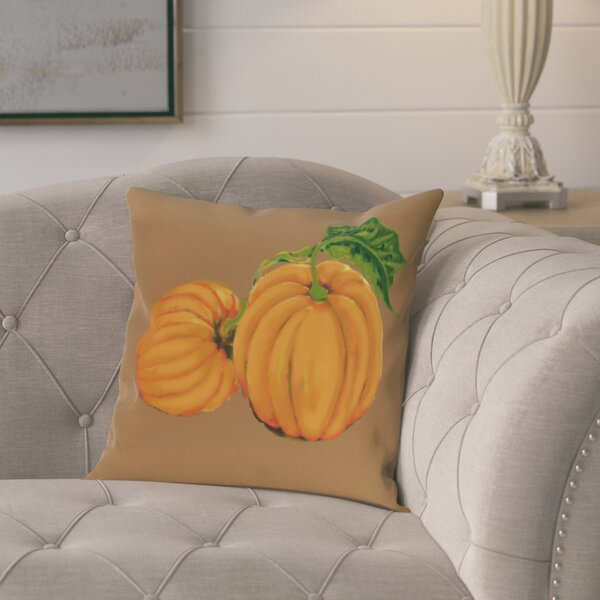 Pinero Pumpkin Patch Holiday Print Throw Pillow by August Grove