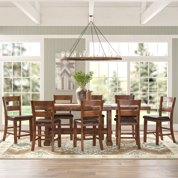 Ellington 9 Piece Counter Height Extendable Dining Set by Millwood Pines