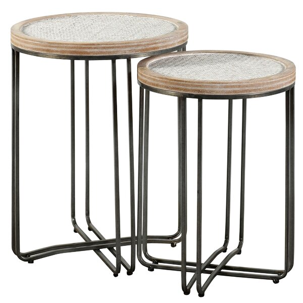 Hughey 2 Piece Nesting Tables by Highland Dunes
