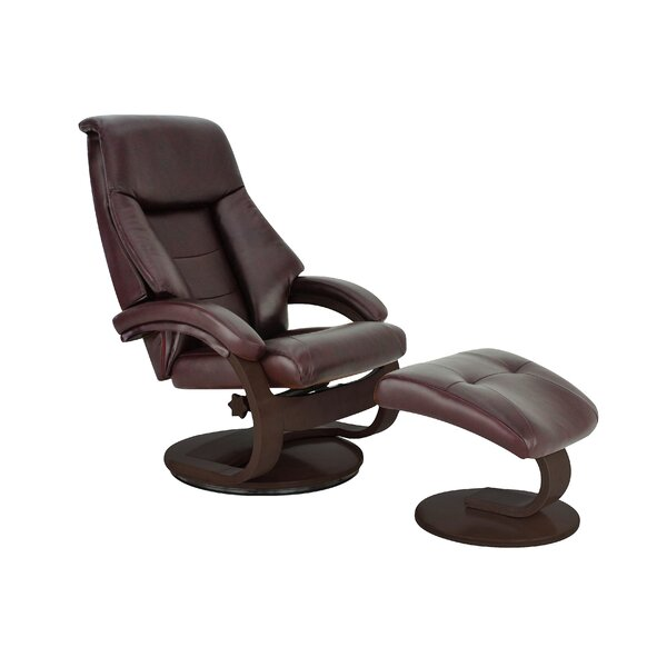 Review Flathead Lake Manual Swivel Recliner With Ottoman