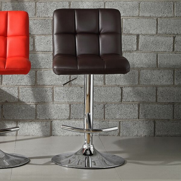 Agrippa Modern Adjustable Height Swivel Bar Stool (Set of 2) by Orren Ellis