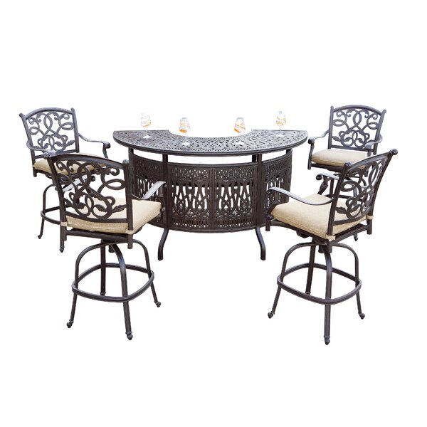 Windley 5-Piece Bar Set by Fleur De Lis Living