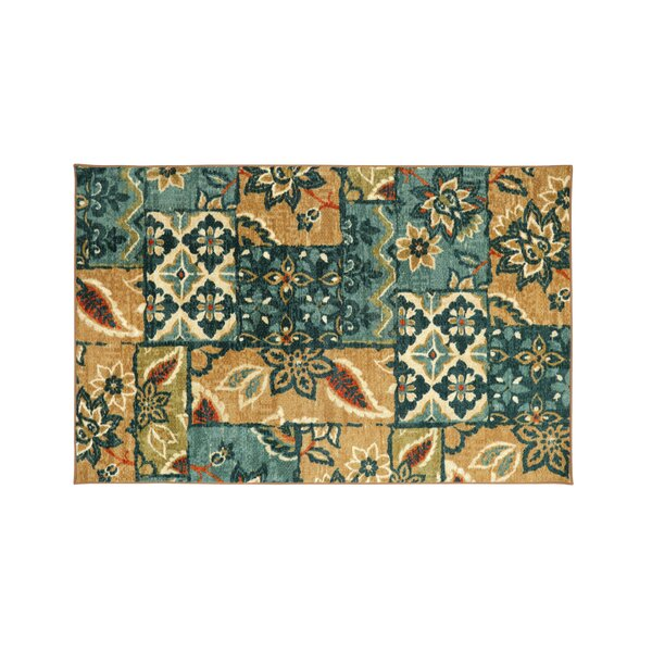 Hellwig Brown/Blue Area Rug by August Grove