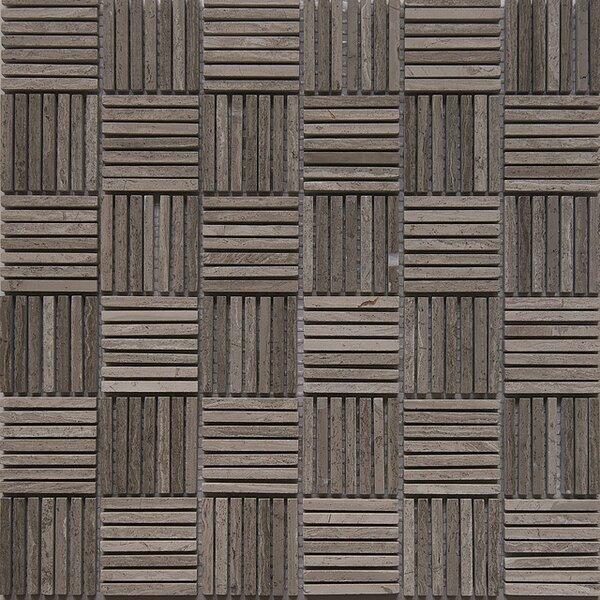 Match Stick Marble Mosaic Tile in White Oak by Matrix Stone USA