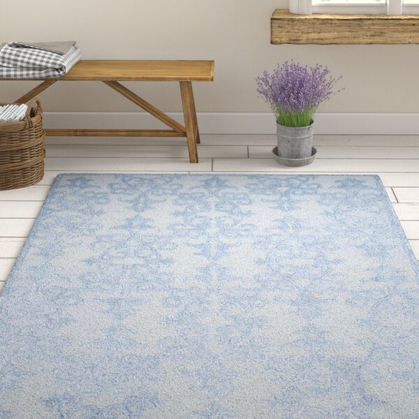 Dickinson Hand-Tufted Blue Area Rug by Ophelia & Co.