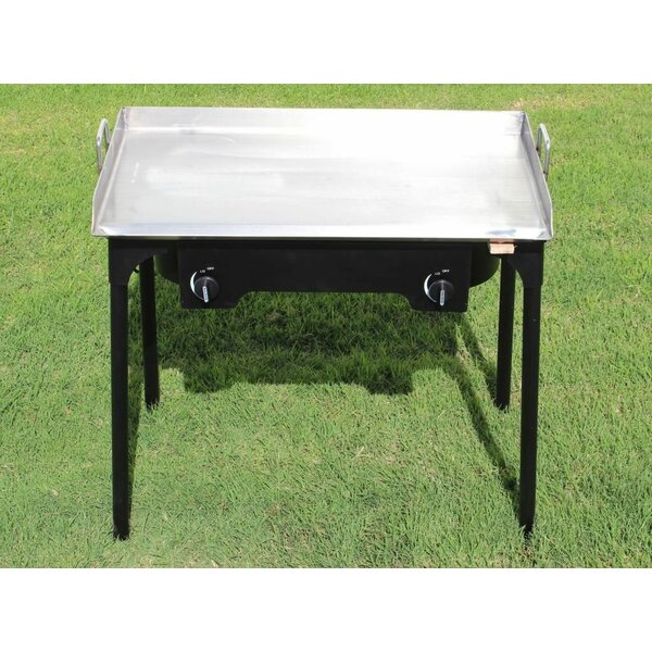 Portable Propane Griddle Grill with Double Burner Stove by Concord Cookware