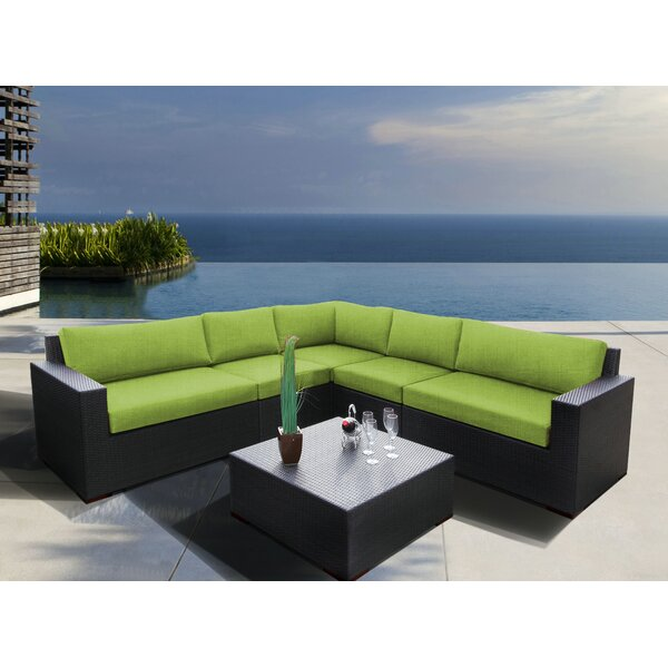 Scholtz 6 Piece Sectional Seating Group with Sunbrella Cushions by Bay Isle Home
