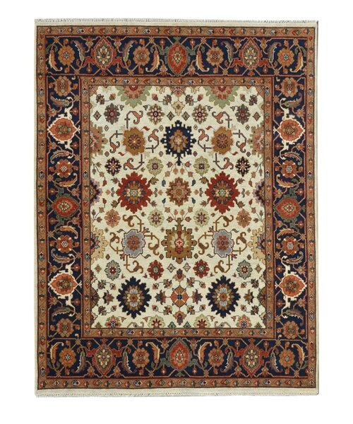 Hand-Knotted Red/Ivory Area Rug by Wildon Home ®