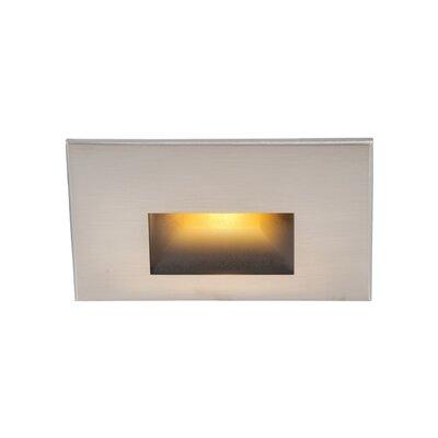 WAC Lighting LEDme Horizontal Step//Wall Light Brushed Nickel WL-LED100-C-BN