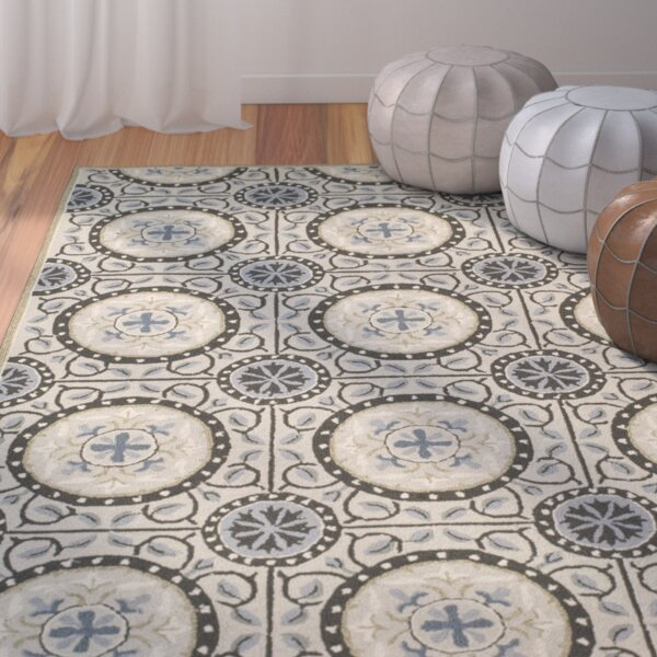 Puri Cement/Blue Outdoor Area Rug by Bungalow Rose