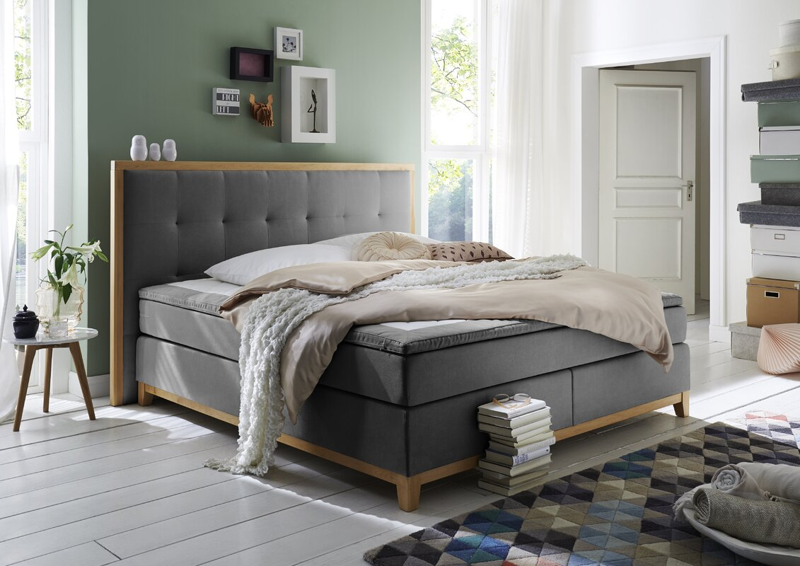 atlantic home collection boxspringbett sonja mit topper bewertungen. Black Bedroom Furniture Sets. Home Design Ideas