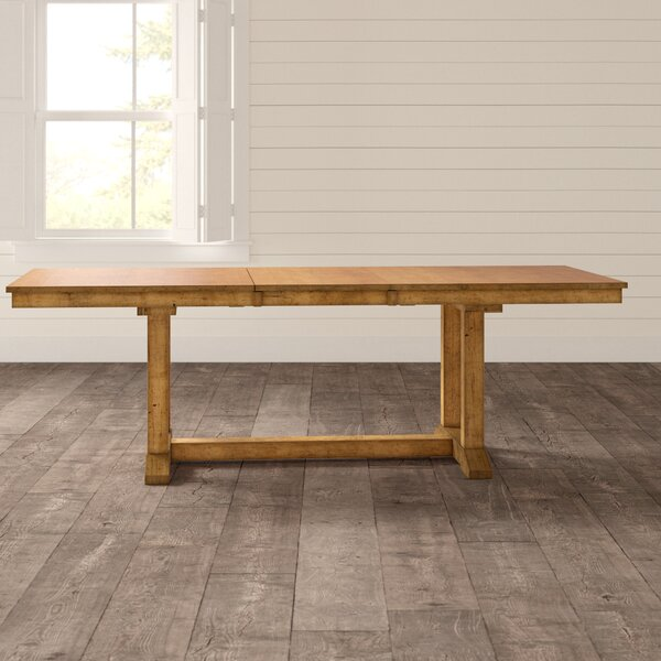 Ian Extendable Solid Wood Dining Table by One Allium Way One Allium Way