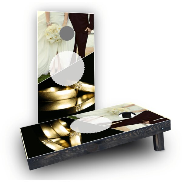 Wedding Rings Cornhole Game Set by Custom Cornhole Boards