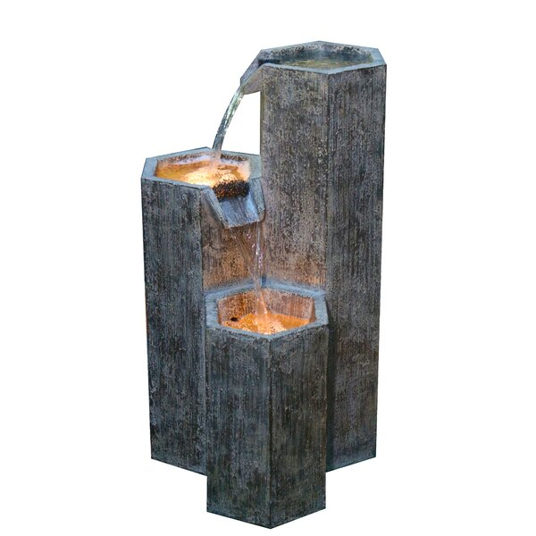 Natural Stone Fountain with LED Light by Alpine