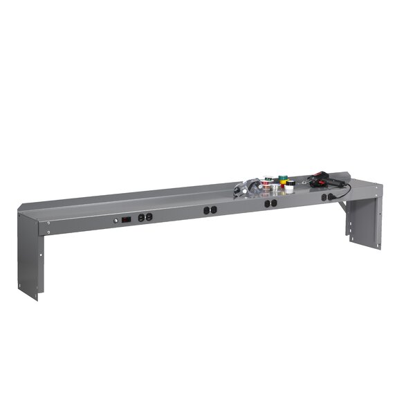 Electronic Riser With End Supports For Electronic Workbench (12 H x 72 W x 10.5 D) by Tennsco Corp.