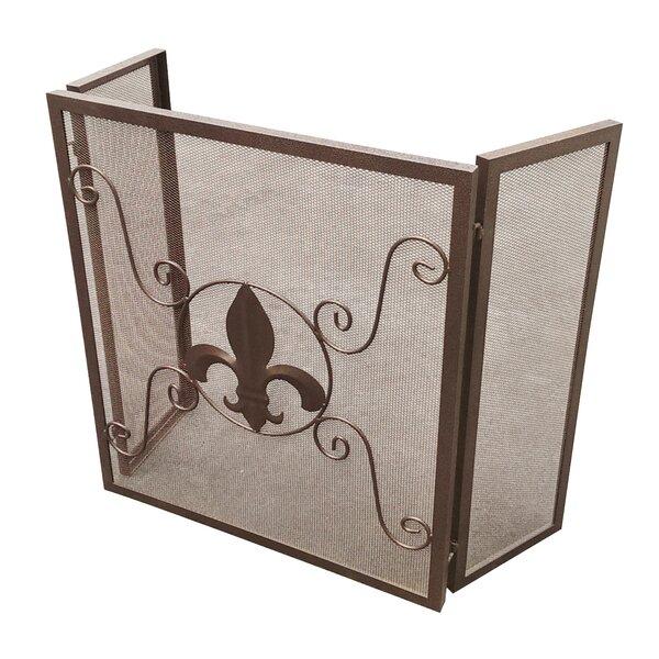 Michelle 3 Panel Steel Fireplace Screen By Fleur De Lis Living