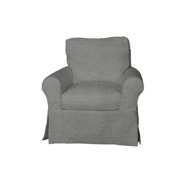 Telluride Swivel T-Cushion Armchair Slipcover by Laurel Foundry Modern Farmhouse