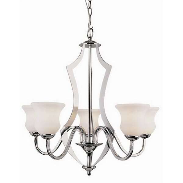 Spinks 5 - Light Shaded Classic / Traditional Chandelier by Charlton Home Charlton Home