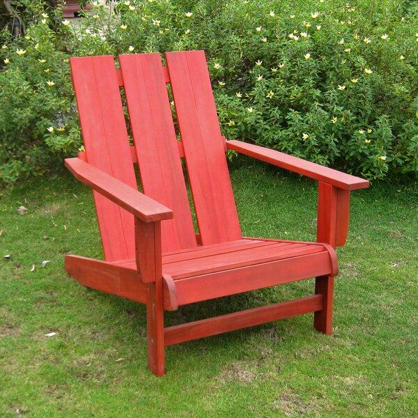 Sabbattus Solid Wood Adirondack Chair by Breakwater Bay