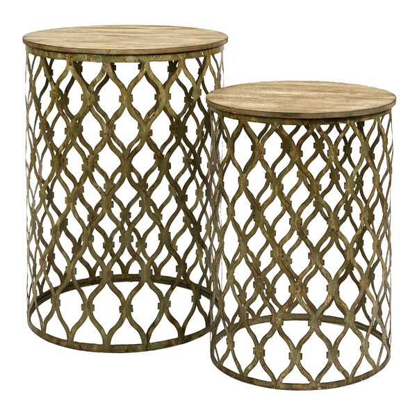 Engen 2 Piece Nesting Tables by Bungalow Rose